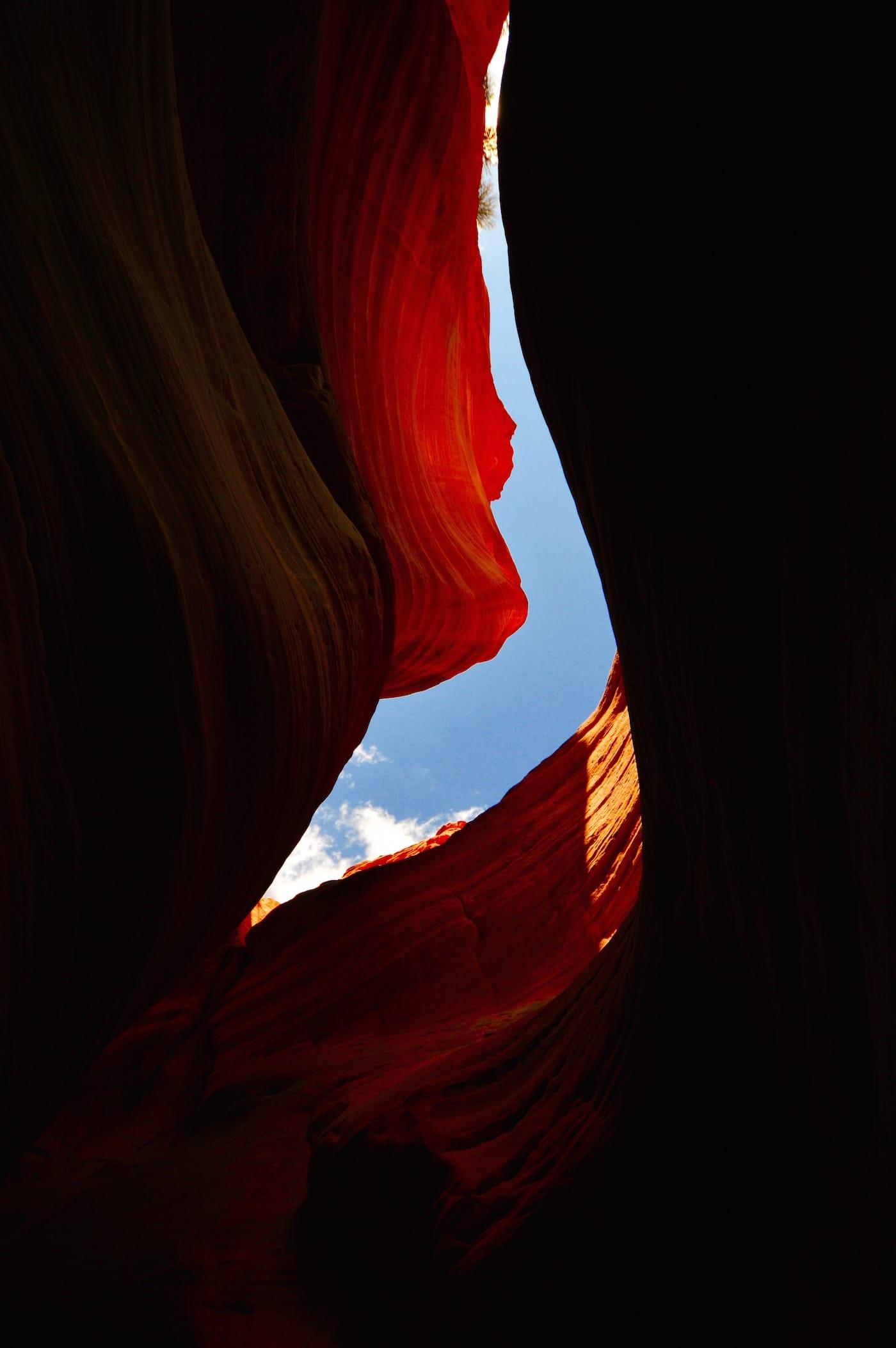 Peekaboo Canyon avec ciel