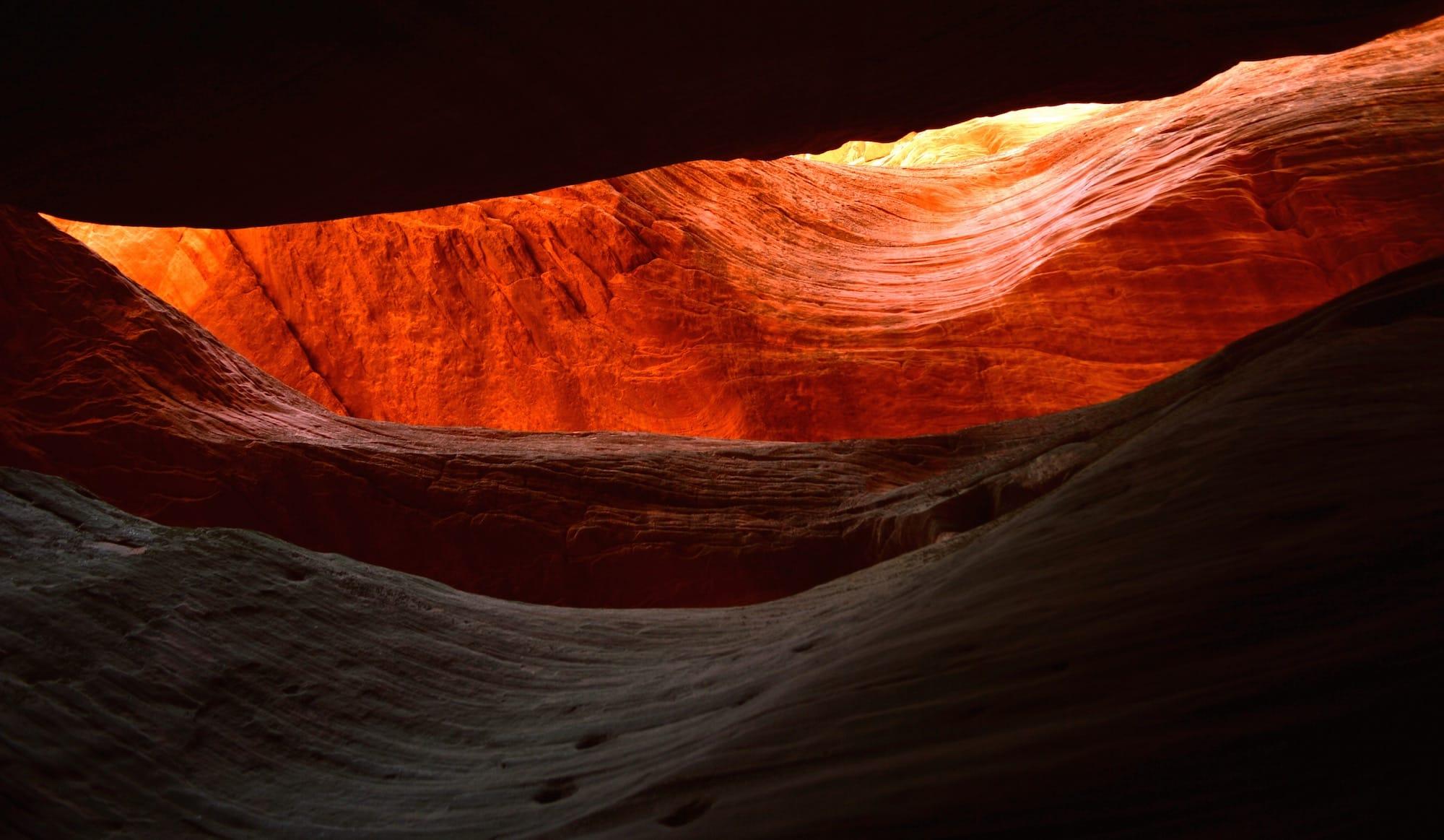 Слот-каньон смотрит вверх