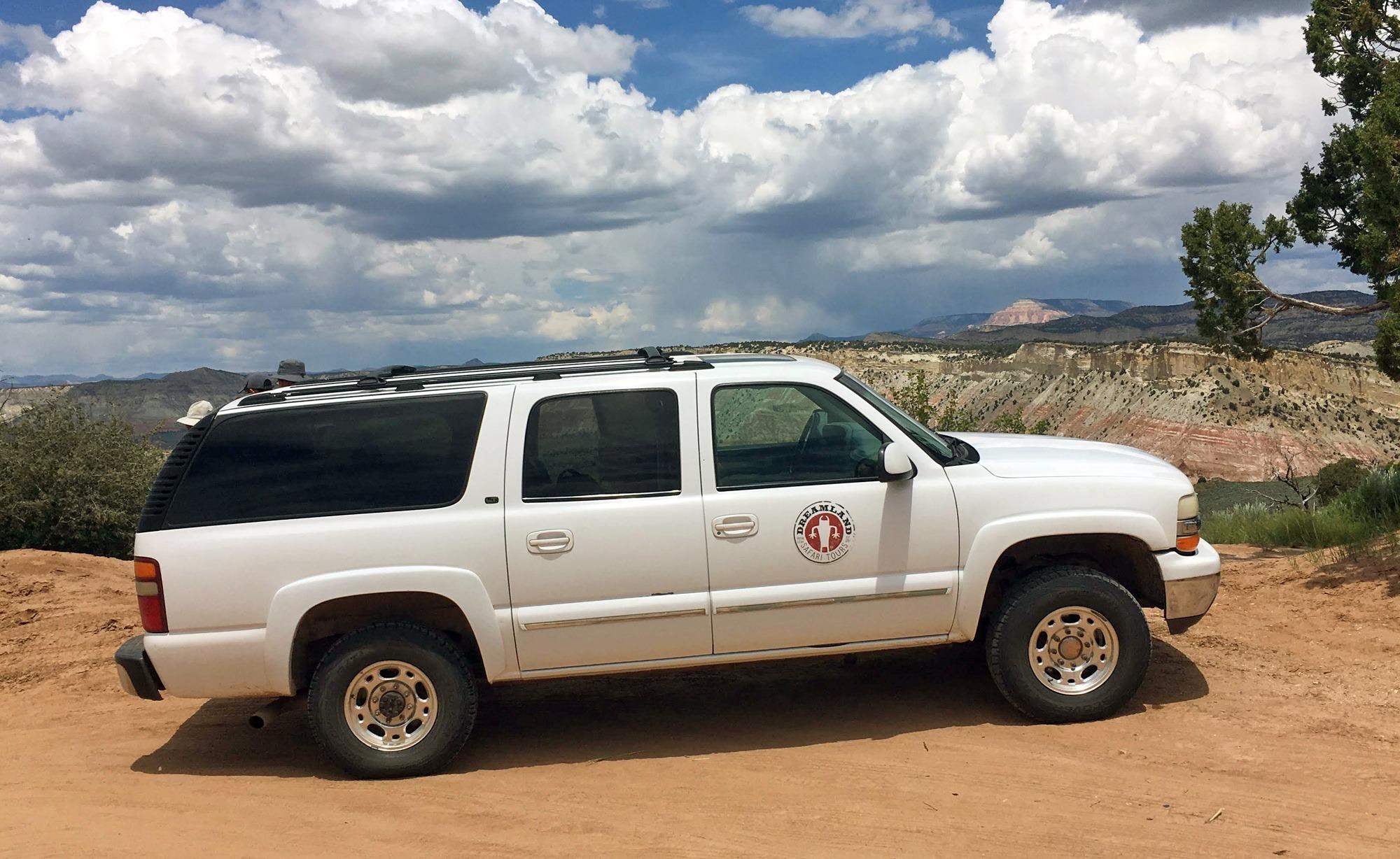 Dreamland Safari Tours truck at Grand Staircase-Escalante National Monument