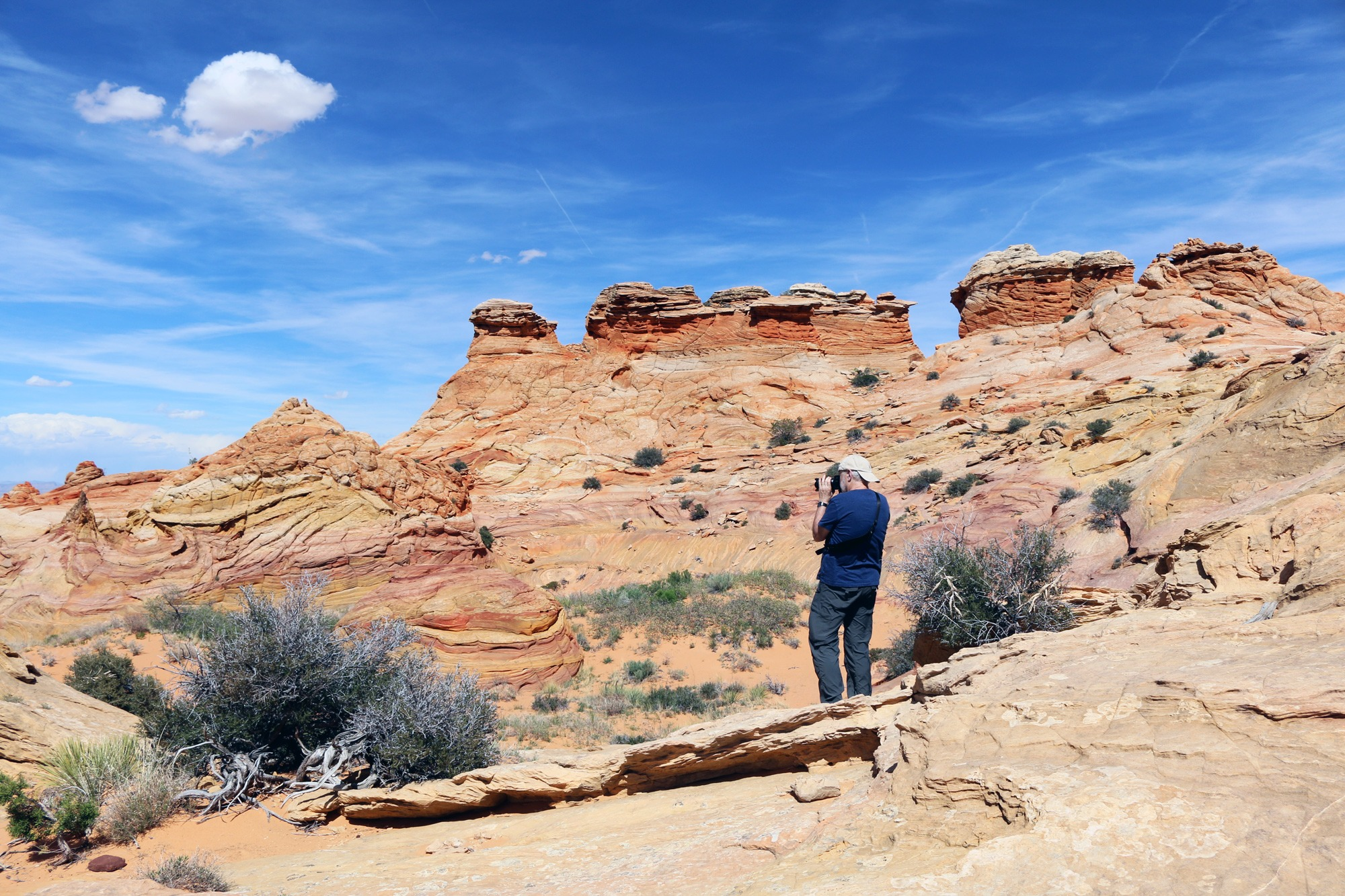 Photographer at South Coyote Buttes